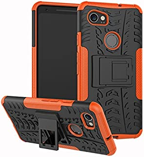 Google Pixel 2XL Shockproof Case,FANSONG 3-in-1 Heavy Duty Full-Body Protective Cover with Clip Kickstand Armor Phone Case...