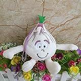 n/o giocattoli di peluche bontà gang verdure peluche bambola, aglio ripieno di bambola, regalo di compleanno per bambini 13cm
