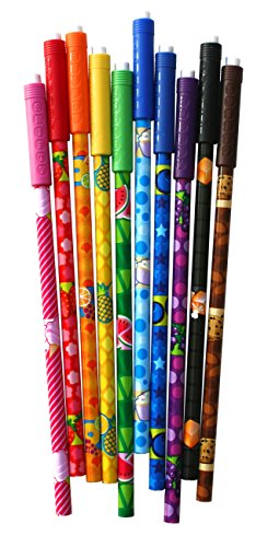 PCA Snifty Assorted Colored Pencils with Scented Toppers, 10 Pack (PSPP03A)