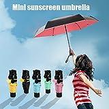 Sombrilla para el sol Paraguas portátil Mini plegable Multicolor Chica Hogar Living