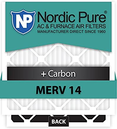 Nordic Pure 10x25x1CustomM14+C-12 MERV 14 + Carbon AC Furnace Filters 12 Piece [並行輸入品]