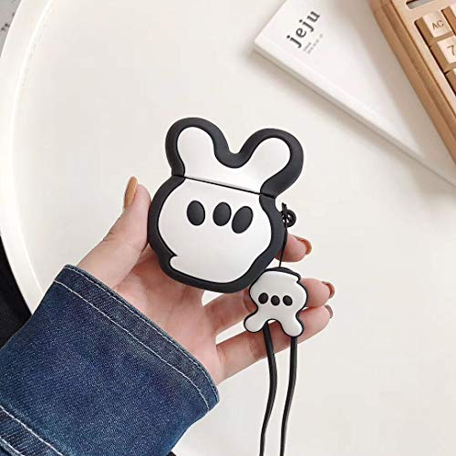 SevenPanda Hülle für Apple Airpods 1 & 2, Cute Cartoon Silikon 3D Airpod Hülle, Weiche Kawaii Kits mit Handschlaufe, Einzigartige Hülle für Mädchen, Kinder, Frauen, Air Pods - Palm