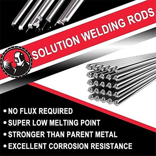 Soldadura Varillas con núcleo fundente No requiere fundente, punto de fusión súper bajo más fuerte que el metal original Excelente resistencia a la corrosión (50pcs)