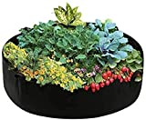 Maius Raised Garden Bed, 15/50/100 Gallon Grow Bags Felt Fabric Breathable Planting Container Grow Bag for Plants, Flower,Vegetables