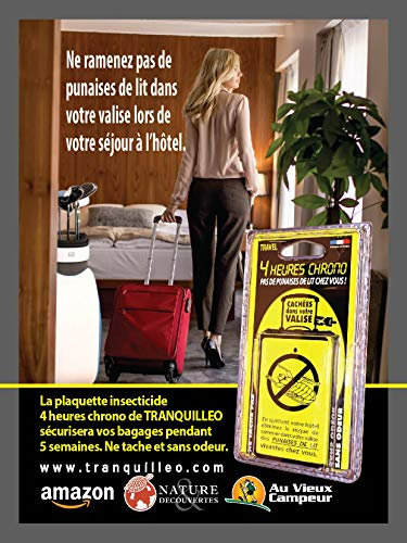 PLAQUETTE Anti PUNAISES DE LIT Special Valise Efficace 100%