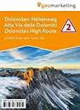 3D-Wanderkarte Dolomiten-Höhenweg 2: Cartina escursionistica 3D Alta Via delle Domiti #2 (Kombinierte Sommer-Wanderkarten Südtirol / Topografische Karte + 3D-Panoramakarte)