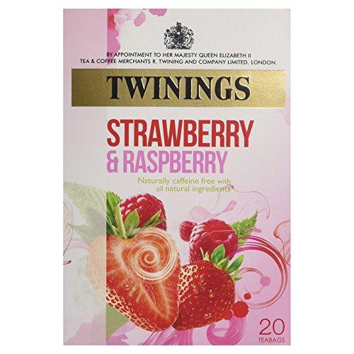 Twinings Strawberry & Raspberry 20 Btl. 40g - Früchtetee mit Erdbeer und Himbeergeschmack