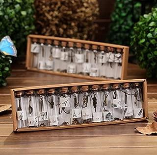 12Pc Mini Glass Bottle fashion metal Pendant Wishing bottle