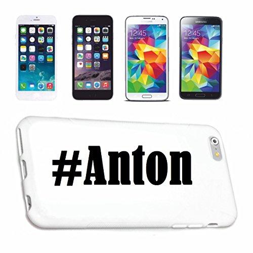 Reifen-Markt Handyhülle kompatibel für iPhone 7 Hashtag #Anton im Social Network Design Hardcase Schutzhülle Handy Cover Smart Cover