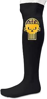 Men's Los Angeles Lakenisher Gold Basketball Skull Head Soccer Socks