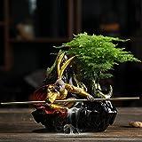 Hydz Cerámica Creativa Zen decoración de la decoración del hogar Chino Qitian Dasheng Sun Wukong Maceta jardinería decoración de la Planta Verde-1