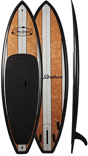 Three Brothers Boards Wood Paddle Board, Rico, 9'