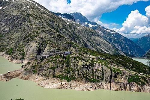 DIY Für Erwachsene Kinder & Freund Alpine Refuge In Der Nähe Von Oberaarsee Dam In Den Berner Alpen Puzzle 1000Piece Stichsäge