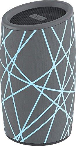 iHome iBT77 Portable Bluetooth Speaker with Speakerphone and Splashproof Fabric (Gray w/Light Blue)