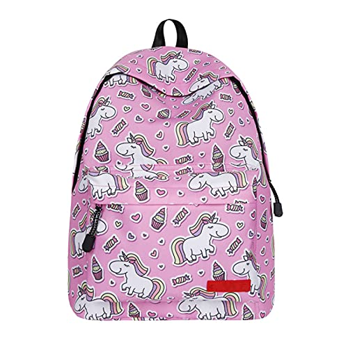 Meyyy, zaino per la scuola con unicorno per ragazze e adolescenti, con borsa per il pranzo e astuccio per bambini e adolescenti, D4-59, 1 Piece