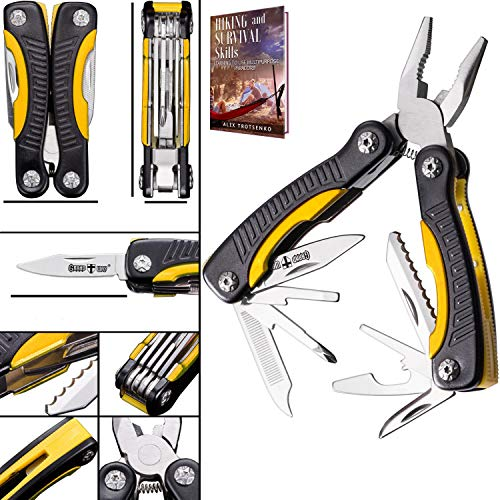Mini Multitool Knife 12 in 1 - Small Pocket Multi Tool with Knife and Pliers - Best Small Utility Multi Purpose All in One Tools for Men Women - Best Gear Accessory for EDC Work Camping Hiking 2229