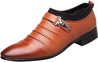 OHQ Zapatos De Cuero Hombre Oxford De Negocios Punta Sandalias Transpirables Ocasionales Zapatos Perezosos Conveniente par...