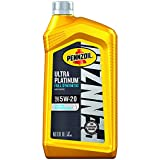 Pennzoil Ultra Platinum Full Synthetic 5W-20 Motor Oil (1-Quart, Single Pack)