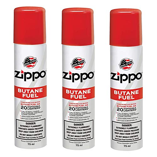 top 10 lot of 3 zippo lighter fluid 17oz x 3 Zippo Premium Butane Fuel 1.48 oz – 3 pcs