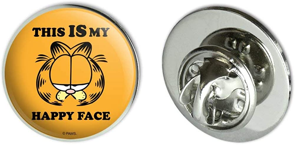 GRAPHICS & MORE Garfield This is My Happy Face Metal 0.75
