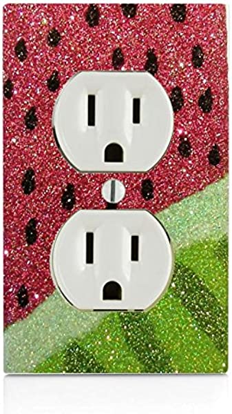 Trendy Accessories Watermelon Design Print Image Electrical Outlet Plate Cover
