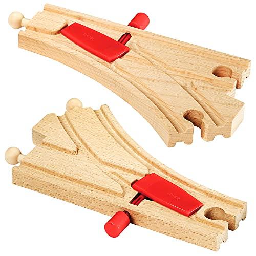 BRIO 33344 - Pistas de conmutación de madera y mecánica