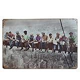 Vosarea Cartel de Chapa Vintage Hombres Trabajadores Cartel de Pared Retro Cartel de Metal Hierro Pub señal Cueva Garaje decoración para Pared hogar Bar cafetería