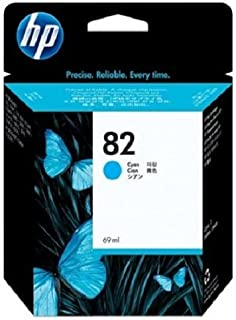 HP 82 69-ml Cyan DesignJet Ink Cartridge C4911A