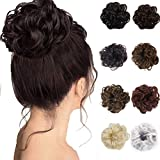 Hair Bun Extensions Wavy Curly Messy Donut Chignons Hair Piece Wig for Women