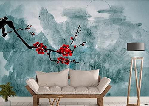 LI Wallpaper Carta Da Parati moderna 3D Paesaggio Di Inchiostro Cinese Plum Disegnato A Mano Fotomurali Murale Decorazione Da Muro Poster Design 400cmx280cm