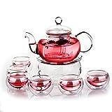 Juego de té de Beddingleer con infusor, tetera, calentador y 6tazas...