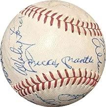 Mickey Mantle Joe Dimaggio Autographed Signed 24 Auto All Star HOF Cronin Baseball Psa Authentic