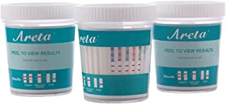 5 Pack Areta 6 Panel Instant Drug Test Cup - Amphetamine (AMP), Benzodiazepines (BZO),Cocaine (COC), Methamphetamine (MET), Opiate (OPI 2000), Marijuana (THC)- #ACDOA-264