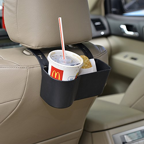 Car Headrest Seat Back Organizer Cup Holder Drink Pocket Food Tray Universal Liberate Your Hands....