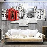 Adornlife Wand-dekor Rote Telefonzelle der Londoner