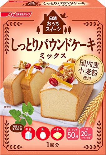 日清 おうちスイーツ しっとりパウンドケーキミックス 240g ×6箱