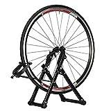 Aleación de Aluminio Soporte Bici Taller,Sujeta Bicis Suelo Ajustable, Ligero, Portátil Soporte Bicicletas Suelo para 26-28' Bicicleta