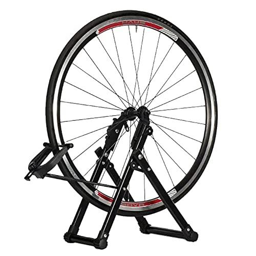 CYGJ Lega di Alluminio Bike Stand,Portabici da Terra Regolabile, Leggero, Portatile Cavalletto Porta Bici per 26-28' Bicicletta