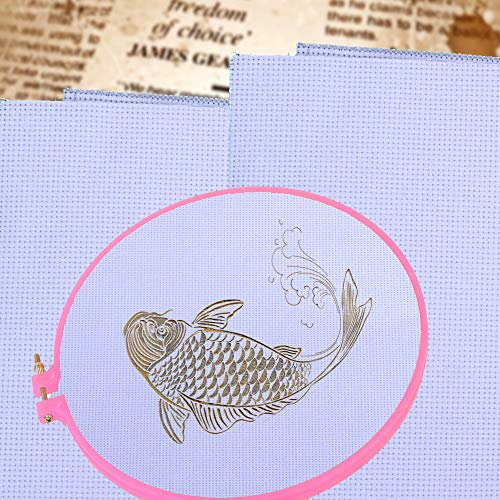 """Onepine 4 Pieces 12"""" by 18"""" Embroidery Cloth Classic Reserve Aida Cloth Cross Stitch Cloth, White"""
