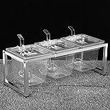 Changor Spezia Scatola Ripiano Impostato, Insieme a Inossidabile Acciaio e Acrilico 35-60 cm Piede Pastiglie Shaker Zucchero Ciotola per Casa Cucina