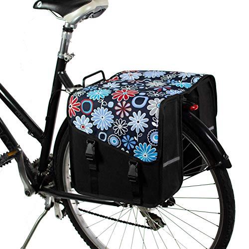 BikyBag Classico S - Borse Doppio Portapacchi Fashion Bicycle Cycle Bike da Donna - Uomo (Margherita)