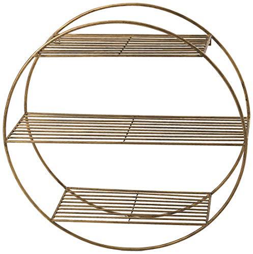 Amadeus Etagère Ronde en métal 3 Niveaux Gold