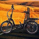 Bici electrica Plegable 20 Pulgadas E-Bike Cuadro Plegable de aleación de Aluminio Batería de 45 a 55 km de autonomía ultralarga Una Bicicleta eléctrica Adecuada para el Uso Diario de Todos