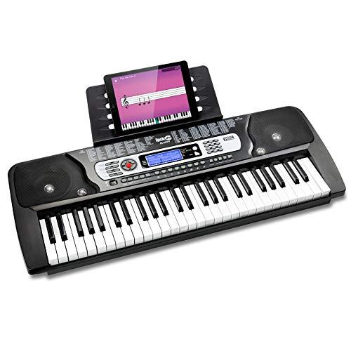 RockJam 54鍵 電子キーボード RJ654-MC 電源アダプター、譜面台、練習用オンラインアプリ付属