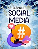 SOCIAL MEDIA PLANNER: Online Marketing Strategy, Social Media (Facebook, Instagram, Pinterest, Youtube, Twitter) Content Planner and Organizer, Tasks ... Budget Planning, Target Audience Tracking