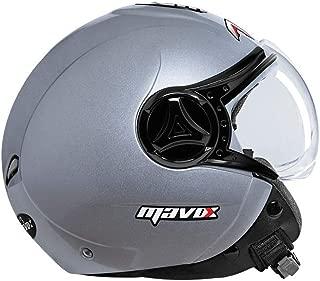 MAVOX OX10 580 Open Face Helmet (Silver, 580 mm)