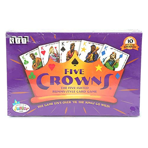 EFDS Five Crowns Card Game Uk Edition - Children Adluts Playing Card Game Bar Interactive Poker Board Game Card