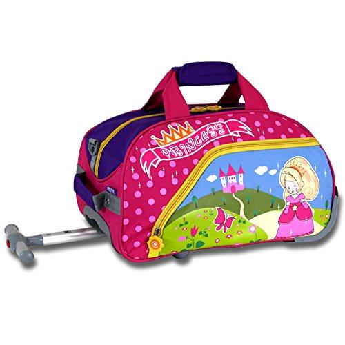 J World New York Paris - bolsa deportiva con ruedas para niños, Rosado, Una talla