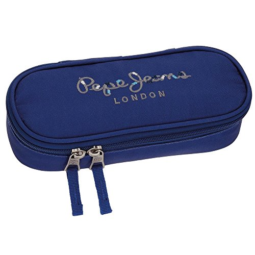 Trousse 3 compartiments Pepe Jeans Harlow Blue