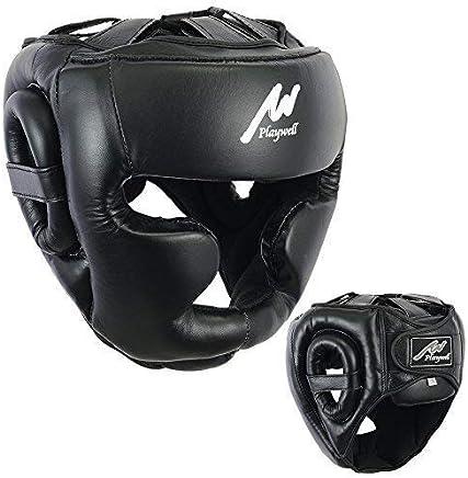 3X Sports Boxe Casque UFC Tête Protecteur Visage Protection Head Guard Muay Thai